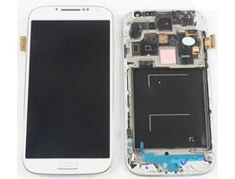 Jual LCD with touch and frame for samsung I9500 display screen assembly