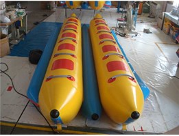 JUAL Banana Boat 8 Seat Double Chamber 0.9mm PVC Tarpaulin & Blower 680W CE