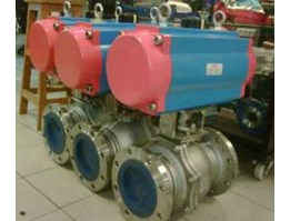 Z3 Group Industry - E.TORK PNEUMATIC ACTUATOR + 2PC BODY BALL VALVE SS316 FLANGE END # 300 8INCH -