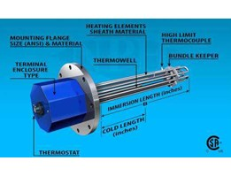 Jual Immertion Flange Heater