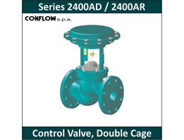 CONFLOW - Series 2400AD / 2400AR - Control Valve, Double Cage