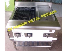 Jual Stainless Gas Griil Combine Hot Plate