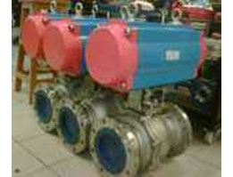 Z3 Group Industry - E.TORK PNEUMATIC ACTUATOR + 2PC BODY BALL VALVE SS316 FLANGE END # 300 8INCH