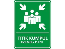 Titik Kumpul Assembly Point 600 x 400 mm, Safety Sign