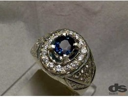 Jual Natural Fancy Blue Sapphire Corundum, Top Luster, Memo KGL