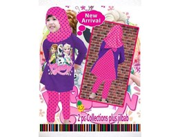 BM403 408 Setelan Hijab FROZEN LITTLE PINEAPPLE