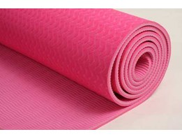 TPE Yoga Mat Double Layer - Colour Pink-Pink