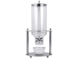 Cereal Dispenser, Stainless Steel, 7-1/ 2 Quart