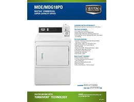 Jual MDG18PDAGW - Maytag Single Dryer