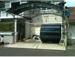 Wrought Iron Canopy Shelter Carport with Polycarbonate