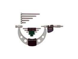 340-352-10, Outside Micrometers with Interchangeable Anvils, Mitutoyo
