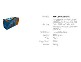 Jual Toner Cartridge Orimax MX-CE410A Black
