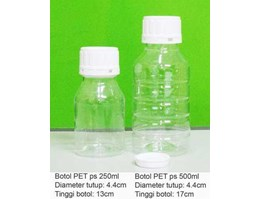 Jual Botol PET ps 250ml dan 500ml.