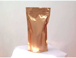 Stand up pouch Gold zipper and valve