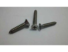 Jual Tapping Screw Flat Philips Head ( Sekrup JF) Stainless Steel A2 304