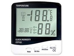 Jual 3 IN 1 Thermometer Hygro and Clock ETP101