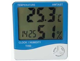 Jual In & Out Thermometer Hygro and Clock TH91