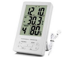 Jual In & Out Thermometer Hygro and Clock TH95