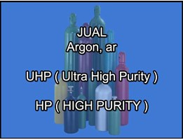 Jual Jual Gas Argon/Ar - UHP/HP (Ultra High Purity/High Purity)