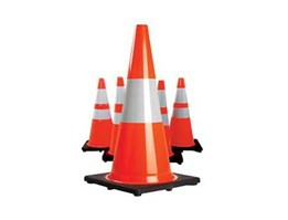 Jual FC70B Rubber Traffic Safety Cone Black Based
