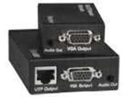 Low-Cost VGA Video + Audio Extender via CAT5e, Up to 590 ft