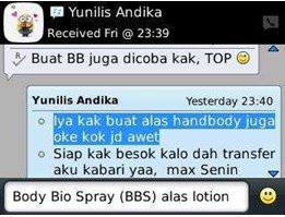 Jual Distributor BODY BIO SPRAY (BBS)