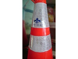 Jual Traffic cone PVC kerucut 70 cm Base Orange