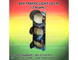 Box Traffic Light / Warning Light diameter 20cm (3 Aspek)
