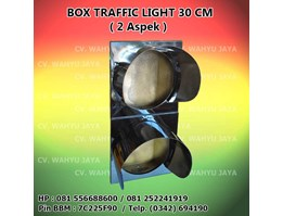 Box Traffic Light / Warning Light diameter 30cm (2 Aspek)