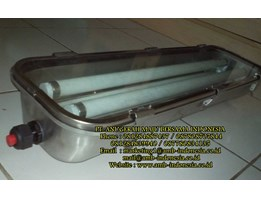 Lampu TL Stainless Steel GRP Glass Explosion Proof