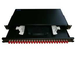 Jual Rackmount Fiber with 24 ST Couplers and Splice Tray