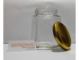 Jar Botol Selai Hexagon 250ml (Import)