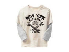 Baby GAP 2-in-1 graphic tee Oatmeal Heather