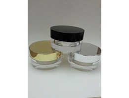 Jual Pot Akrilik Cap Black/ White/ Gold 15gr