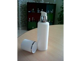 Botol Airless Full White neck Silver 80ml/ 100ml