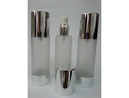 Jual Botol Airless Silver Frosted 80ml