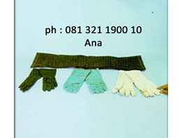 jual Rubber Gloves, Leather Gloves, Asbestos Gloves, Quatering Canvas