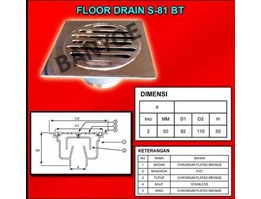 Jual Floor Drain Type S-81 BT