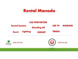 Rental Rigging dan Lighting Di Manado