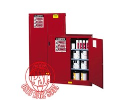 Red Safety Cabinet For Combustible Justrite