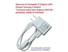 Jual Charger + Kabel Data Microusb Samsung Original 100%