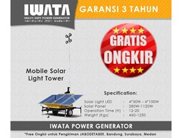 Jual Lightning Tower Iwata - Mobile Solar Light Tower