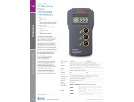 0.1° Resolution  K-Type  Thermocouple Thermometers