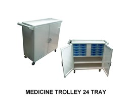 Medicine Trolley 24 Tray
