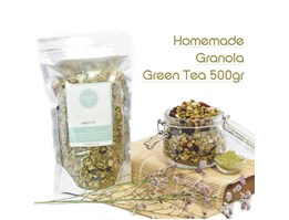 Homemade Granola Green Tea
