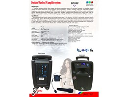 Portable Wireless PA system( DP108F)