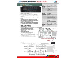4 Channel Matrix Mixer Amplifier With MP3 T-4060MP;T-4120MP