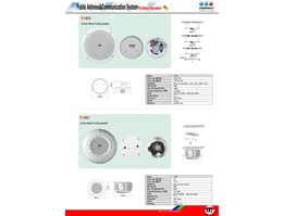 Jual Surface Mount Ceiling Speaker T-105S ; T-105T