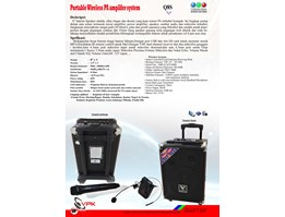 Jual Portable Wireless PA System( Q8S)