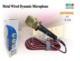 Metal Wired Dynamic Microphone E-318